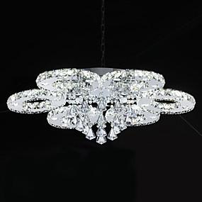 hesapli Gömme Montaj-Sıva Altı Monteli Ortam Işığı Krom Metal Kristal, LED 110-120V / 220-240V Beyaz LED Işık Kaynağı Dahil / Birleştirilmiş LED