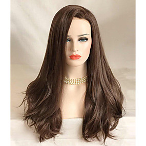 cheap Uniwigs®-Synthetic Lace Front Wig Wavy Style Lace Front Wig Brown Brown Synthetic Hair Women's Brown Wig Long Uniwigs Natural Wigs