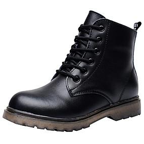 ราคาถูก รองเท้า และ กระเป๋า-เด็กผู้ชาย หนังสัตว์ บูท เด็กน้อย (4-7ys) / Big Kids (7 ปี +) ความสะดวกสบาย / Fashion Boots / รองเท้าคอมแบท ลูกไม้ขึ้น สีดำ ฤดูหนาว / รองเท้าบู้ทหุ้มข้อ / TPR (ยางเทอร์โมพลาสติก) / EU37