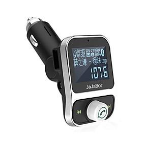 ราคาถูก โปรโมชั่นอุปกรณ์ตกแต่งรถยนต์กับฤดูร้อน-ชุดหูฟังบลูทู ธ แบบ dual USB เครื่องชาร์จมือถือแฮนด์ฟรีแบบไร้สาย FM transmitter modulator พร้อมจอ LCD