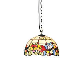 billige Hengelamper-diameter 30cm tiffany anheng lys glass lampe skygge stue soverom spisestue barn rom lysarmatur