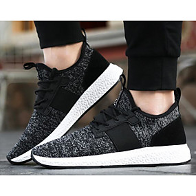 cheap Men's Athletic Shoes-Men's Nylon Spring / Fall Comfort Athletic Shoes Walking Shoes Black / Gray / Blue