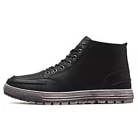baratos Botas Masculinas-Homens Sapatos Confortáveis Borracha Inverno Casual Botas Preto / Marron / Cadarço / Ao ar livre