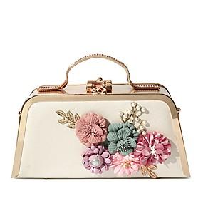povoljno Cipele i torbe-Žene Biserni detalji / Cvijet Večernja torbica PU Crn / Blushing Pink / Crvena