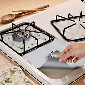cheap $5.99-2pcs Reusable Foil Gas Hob Range Stovetop Burner Protector Liner Cover