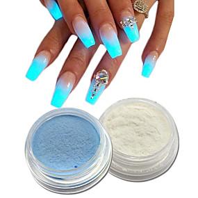 baratos Glitter para Unhas-2pcs Pó acrílico / Nail Glitter Brilho & Glitter / Luminoso Nail Art Design