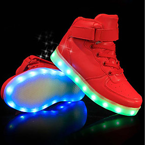 cheap Kids' Shoes-Boys' PU(Polyurethane) Sneakers Little Kids(4-7ys) / Big Kids(7years +) Comfort / Light Up Shoes LED White / Black / Red Spring & Summer / Party & Evening / TR