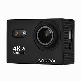 voordelige Bewakingscamera's-andoer an9000 4k 16mp wifi actie sportcamera 1080p fhd 2 touchscreen 170 groothoeklens met hardcase ondersteuning 4x zoom waterdicht 40m