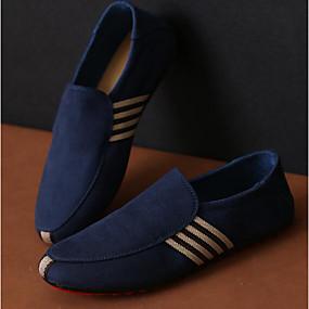 baratos Sapatilhas e Mocassins Masculinos-Homens Sapatos Confortáveis Lona Primavera / Outono Tênis Preto / Azul / EU40