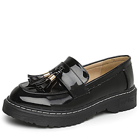 7b892c85d0f0 Women s Shoes PU(Polyurethane) Spring   Fall Moccasin Loafers   Slip-Ons  Low Heel Round Toe Black   Almond