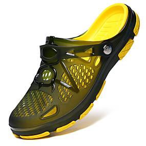 abordables Pantuflas y Chancletas para Hombre-Gel de sílice Verano Confort Zapatillas y flip-flops Bloques Negro / Azul Oscuro / Verde