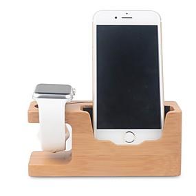 voordelige Smartwatch-houders & houders-Apple Watch Standaard met adapter Other Bamboe Bureau