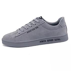 billige Herresneakers-Herre Stof Forår / Sommer Komfort Sneakers Sort / Grå