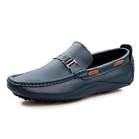 baratos Sapatos Náuticos Masculinos-Homens Couro Primavera / Outono Conforto Sapatos de Barco Preto / Marron / Azul