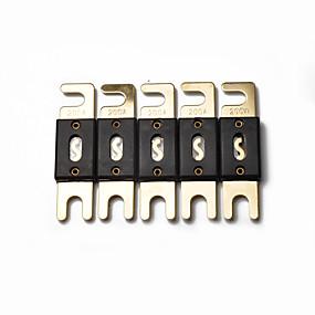 povoljno Auto akustika-5 x x visokokvalitetno zlato 200 amp 200a audio audio osigurač (5 / pakiranje) novo