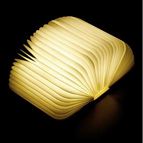 billige Lamper-1pc Bok LED Night Light Varm Hvit Innebygd Li-batteridrevet Foldbar Oppladbar Dekorativt lys Med USB-port Enkel å bære