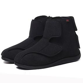 baratos Botas Masculinas-Homens / Unisexo Sapatos Confortáveis Lã Inverno Botas Botas Curtas / Ankle Preto