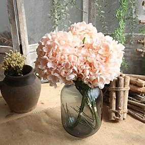 cheap Clearance-Artificial Flowers 5 Branch Simple Style Wedding Flowers Hydrangeas Tabletop Flower