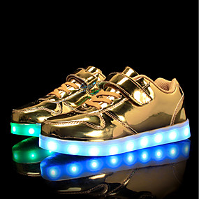 best authentic 28a17 3cd51 Boys    Girls  Shoes PU Spring   Fall Comfort   Light Up Shoes Sneakers  Walking Shoes Lace-up   Hook   Loop   LED for Silver   Blue   Pink
