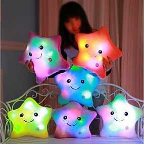billige Leker-Luminous pillow Led Light Pillow Start Shape Romantik Kosedyr Smuk comfy Jente Leketøy Gave