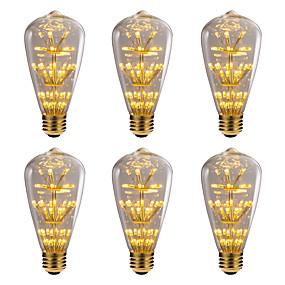 billige Globepærer med LED-brelong 6 stk 3w e27 47led dekorative globuspærer ac220 gul