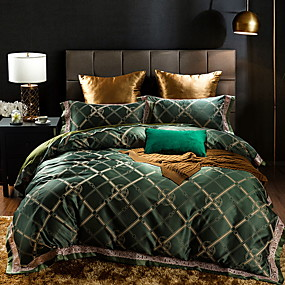 cheap High Quality Duvet Covers-Duvet Cover Sets Luxury Poly / Cotton / Polyster Reactive Print 4 PieceBedding Sets