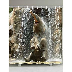 hesapli Duş Perdeleri-Shower Curtains & Hooks Çağdaş Ülke Polyester Hayvan Makine Yapımı Su Geçirmez