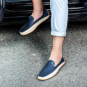 baratos Sapatos Náuticos Masculinos-Homens Microfibra Primavera / Verão Conforto / Formais Sapatos de Barco Branco / Azul
