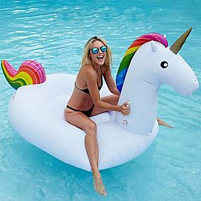 hesapli Havuz ve Su Eğlencesi-Unicorn Şişme Havuz Şamandıraları Donut Havuz Şamandıraları Dış Mekan PVC / winyl 1 pcs Çocuklar için Yetişkin Hepsi Oyuncaklar Hediye