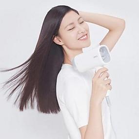رخيصةأون حزم والحزم-xiaomi مجفف الشعر العملي قابلة للطي - أبيض 1600w الأيونات السالبة المزدوجة 2 درجة حرارة السرعة مع فوهة