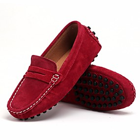 cheap Kids' Shoes-Boys' Shoes Nubuck leather Spring Comfort Loafers & Slip-Ons for Black / Wine