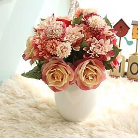 a4ca8cb908a Umělé květiny 8.0 Větev rustikální design Svatba Růže Věčné květy Květina  na stůl