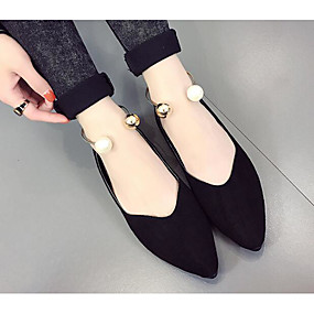 voordelige Damesschoenen met platte hak-Dames Platte schoenen Platte hak Nubuck leder Comfortabel Herfst Bruin / Leger Groen / Roze