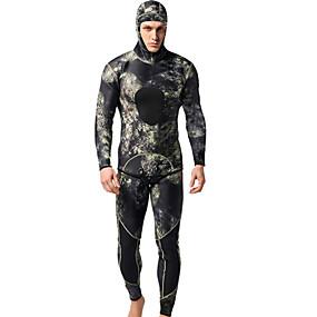 ieftine Lichidare Stoc-MYLEDI Bărbați Neopren Întreg 3mm SCR Neopren Costume de scafandru Impermeabil Keep Warm Manșon Lung Fermoar Spate 2 bucăți - Înot Scufundare Surfing Clasic Primăvară Vară Toamnă