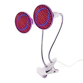 billiga LED Växtljus-1st 20 W 1500 lm E26 / E27 Växande lampa 200 LED-pärlor SMD 2835 Dekorativ / Flexibel lamphållare Clip Röd / Blå 85-265 V