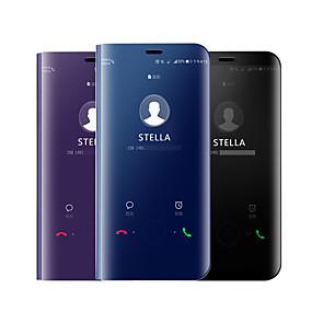 voordelige Mobiele telefoonhoesjes-hoesje Voor Samsung Galaxy A9 Star / A7 (2018) Beplating / Spiegel / Flip Volledig hoesje Effen Hard Siliconen voor A5(2018) / A6 (2018) / A7(2018)