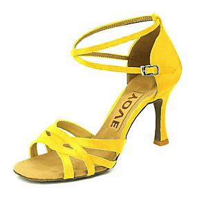 3e6105de9628 Γυναικεία Παπούτσια χορού λάτιν / Παπούτσια σάλσα Σατέν Πέδιλα / Τακούνια  Αγκράφα / Κορδέλα Προσαρμοσμένο τακούνι Εξατομικευμένο Παπούτσια Χορού  Μπρονζέ ...