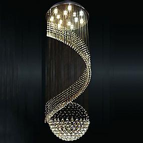 abordables Plafonniers-Lampe suspendue Lumière dirigée vers le bas Plaqué Métal LED 110-120V / 220-240V Blanc Crème / Blanc Neige Ampoule incluse / GU10