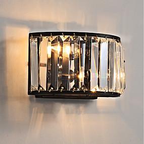 cheap Flush Mount Wall Lights-Crystal / Mini Style Traditional / Classic Flush Mount wall Lights Living Room / Indoor Metal Wall Light 110-120V / 220-240V 45W