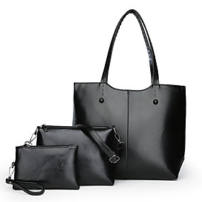 cheap Bags-Women  039 s Bags Genuine Leather Bag Set 3 Pcs Purse 89f57ac3b4