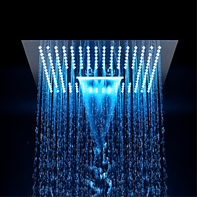 cheap LED Faucets Series-Contemporary Rain Shower Chrome Feature - Eco-friendly / LED / Shower, Shower Head