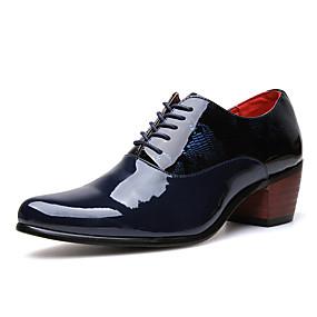 baratos Oxfords Masculinos-Homens Sapatos formais Couro Sintético Primavera Verão / Outono & inverno Oxfords Respirável Preto / Azul Escuro / Festas & Noite