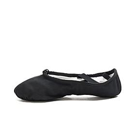 9c6513dfd77 Women s Ballet Shoes Canvas Sneaker Flat Heel Dance Shoes Black   Coffee    Pink