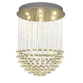 abordables Plafonniers-QIHengZhaoMing 7 lumières Lampe suspendue Lumière d'ambiance Laiton Cristal 110-120V / 220-240V Blanc Crème Ampoule incluse / GU10