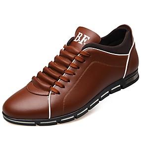 baratos Tênis Masculino-Homens Sapatos Confortáveis Couro Sintético Outono Tênis Preto / Amarelo / Vermelho / Ao ar livre