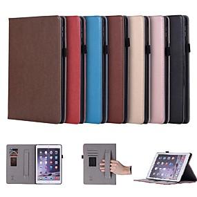 זול במקרה iPad-מגן עבור Apple iPad 4/3/2 מחזיק כרטיסים / עם מעמד / מגנטי כיסוי מלא אחיד קשיח עור PU ל מיני iPad 5 / iPad Air Air (2019) / iPad 4/3/2