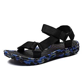 baratos Sandálias Masculinas-Homens Sapatos Confortáveis Tricô / Lona Verão Sandálias Côr Camuflagem Verde / Vermelho / Azul / Ao ar livre