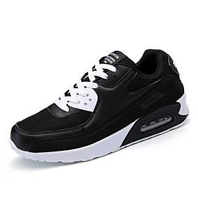 baratos Sapatos Esportivos Femininos-Mulheres Tênis Look Esportivo Sem Salto Com Transparência / Sintéticos Esportivo / Casual Corrida Primavera & Outono / Verão Branco / Preto / Azul
