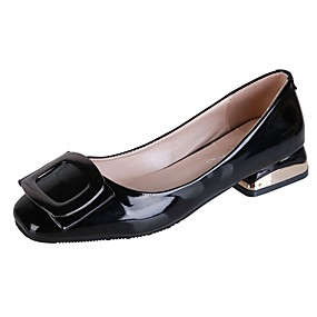 abordables Chaussures Plates pour Femme-Femme Ballerines Chaussures de confort Talon Bas Bout carré Polyuréthane Automne Bleu / Rose / Amande