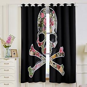 cheap 3D Curtains-Modern 3D Curtains 2pcs Curtain / Blackout / Bedroom